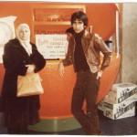 Akram Eskandari and Esfandiar Nik Khah at the Base of CN Tower Toronto 1978 Photo Credit: Esfandiar Nik Khah