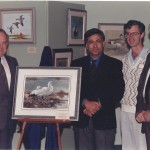 Conservation Stamp Prints, 1994 by Ahmad (Alan) Sakhavarz Morning Light - Ross' Geese Wildlife Habitat Canada Ahmad (Alan) Sakhavarz is a signature member of the Society of animal artists and the Oil painters of America.Award Presentation to Mr. Ahmad (Alan) Sakhavarz Photo Credit: Ahmad (Alan) Sakhavarz