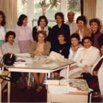ESL Class for parents of students who were studying Farsi at Farsi School on Saturdays from 10 AM to 2:30 PM at a school on Lawrence and Avenue Rd. 1982 From right sitting: X, ESL Teacher (Mrs. Farideh Nasseh), Ms. Yazdani, X, Ms Totonchian, X, X From right standing: Ms. Farangis Mohtashami, Ms. Farzaneh, Javad, Ms. Sarvar Taghavi, Ms. Parvin Jalili, X and X Photo Credit: Mrs. Farideh Nasseh