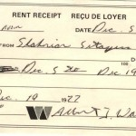 Rent Receipt Dec 5, 1977 $60 for 2 weeks for a Room Photo Credit: Esfandiar Nik Khah
