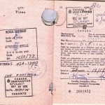 Student Visa issued at Tehran on Dec 12, 1977 Entrance Stamp on Dec 20, 1977 Photo Credit: Esfandiar Nik Khah