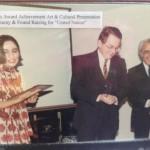 "Award Achievement (Mihan Kazemi) Art & Cultural Presentation Ceremony and Fund Rising for ""United Nation"" 1984 Photo Credit: Mihan Kazemi"