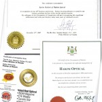 Awards, letter of appreciations, acknowledgments letters, certificates presented to Mr. Karim Hakimi