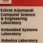 To Honour Professor Eshrat Arjomandi, on Oct. 16, 2008, Room 1006 at Lassonde Building was named: Eshrat Arjomandi Computer Science and Engineering Laboratory. The Room is for Embedded Systems Laboratory and Robotics Laboratory